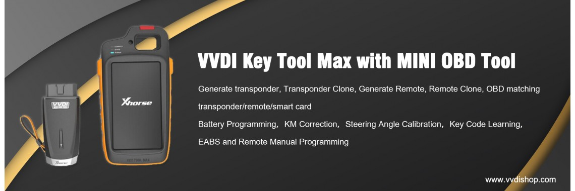 Xhorse VVDI Key Tool Max with VVDI MINI OBD Tool Bluetooth